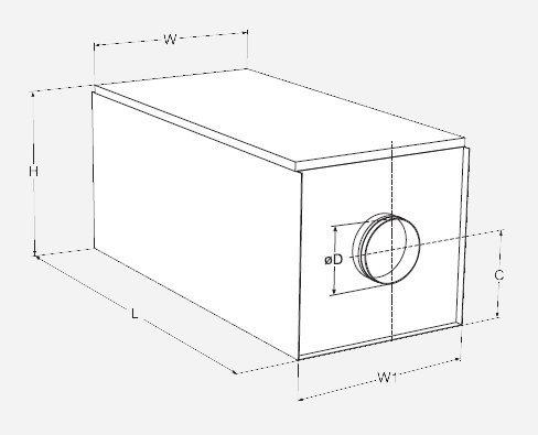 Приточная установка FC-051 габариты