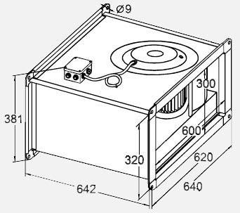 Габариты вентилятора WRW 60-30/28-4D